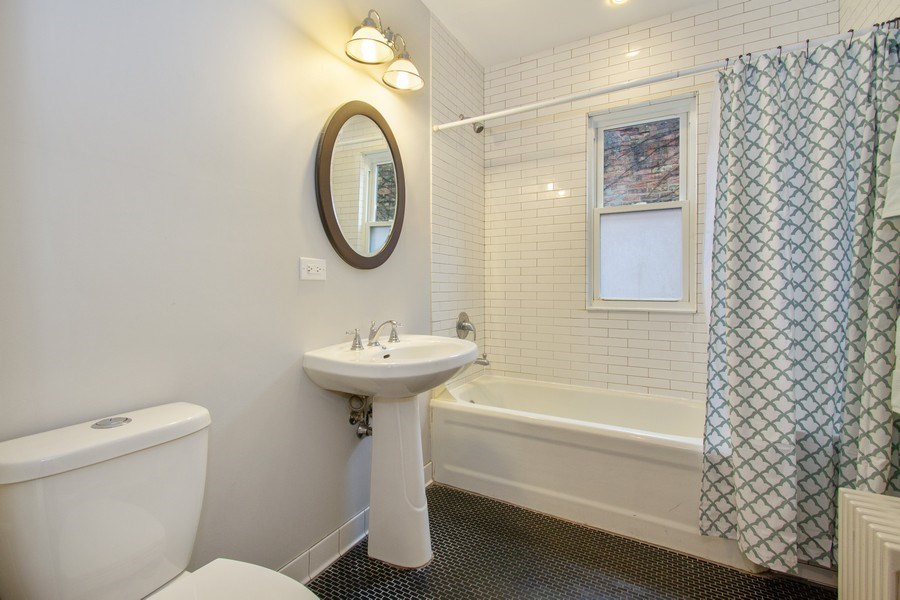 Real Estate Photography - 226 S. Kenilworth Ave, Oak Park, IL, 60302 - 2nd Floor Main Bath