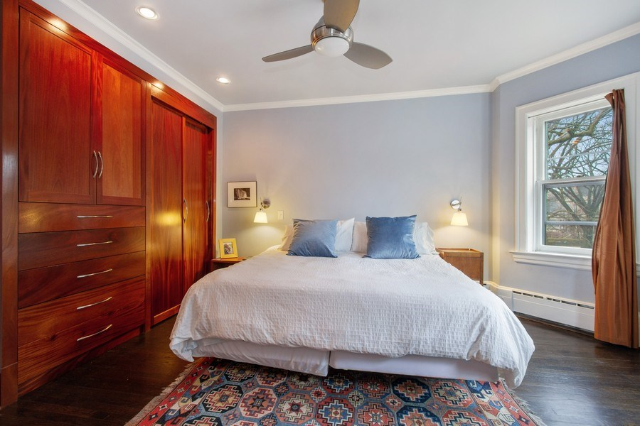 Real Estate Photography - 226 S. Kenilworth Ave, Oak Park, IL, 60302 - Master Bedroom
