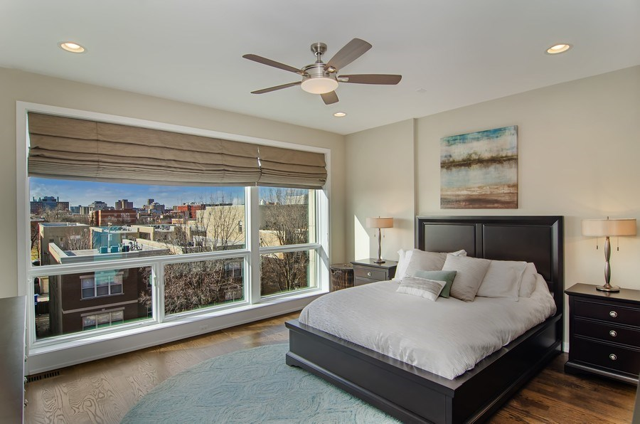 Real Estate Photography - 1033 S Racine, 3NF, Chicago, IL, 60607 - Master Bedroom