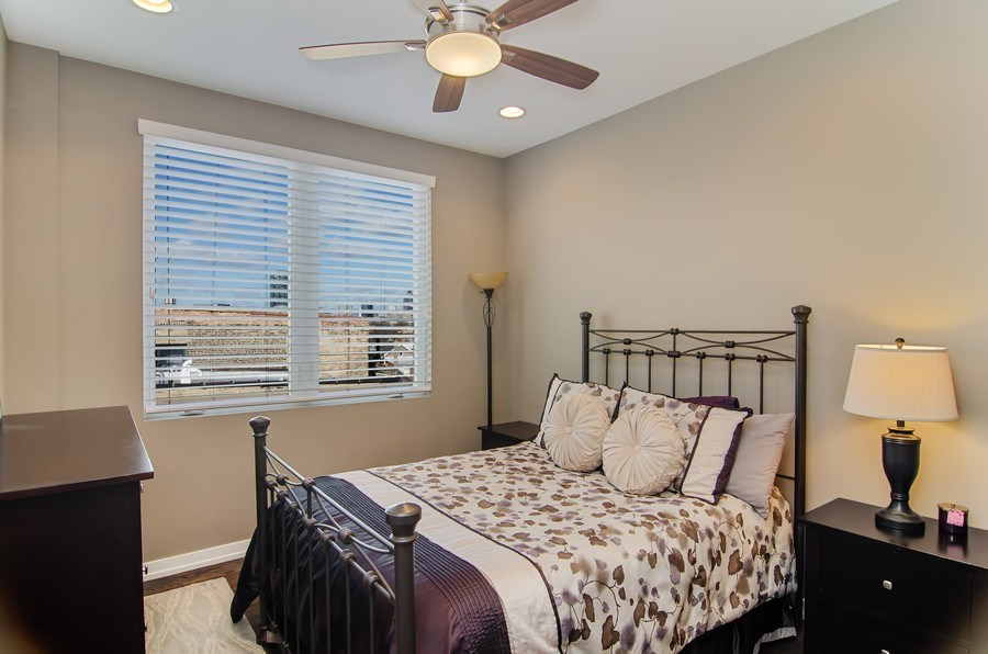 Real Estate Photography - 1033 S Racine, 3NF, Chicago, IL, 60607 - 2nd Bedroom