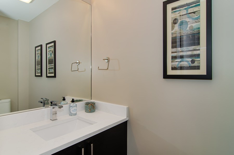 Real Estate Photography - 1033 S Racine, 3NF, Chicago, IL, 60607 - Half Bath