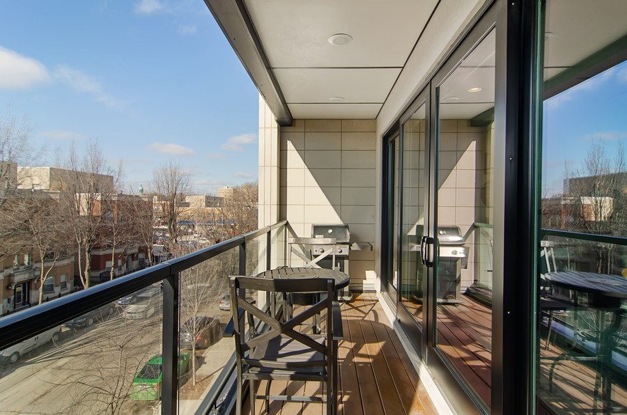 Real Estate Photography - 1033 S Racine, 3NF, Chicago, IL, 60607 - Balcony