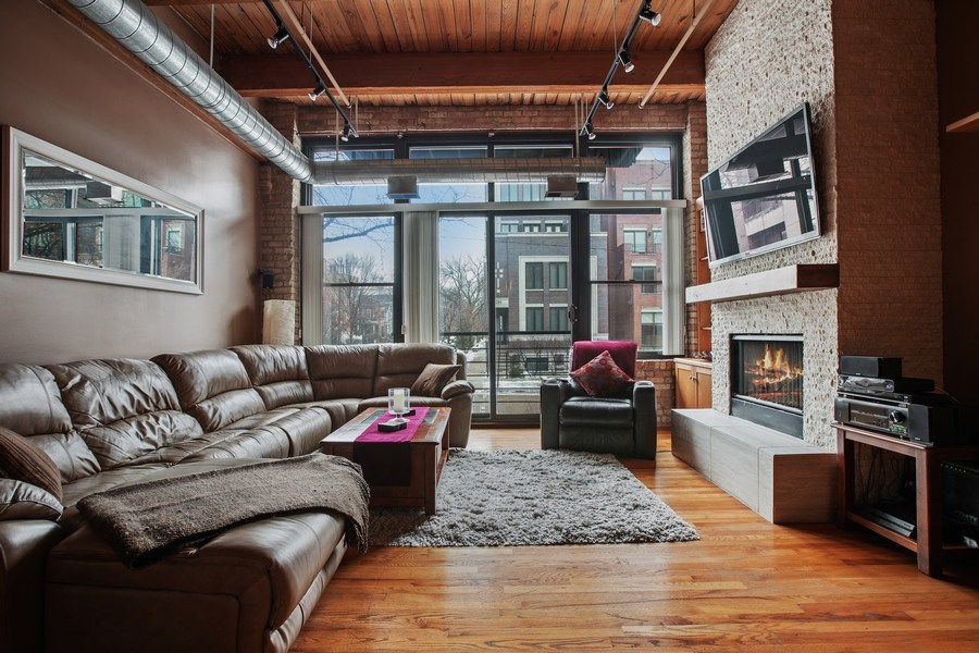 Real Estate Photography - 2300 W Wabansia Ave, 106, Chicago, IL, 60647 - Living Room