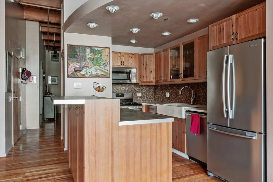 Real Estate Photography - 2300 W Wabansia Ave, 106, Chicago, IL, 60647 - Kitchen