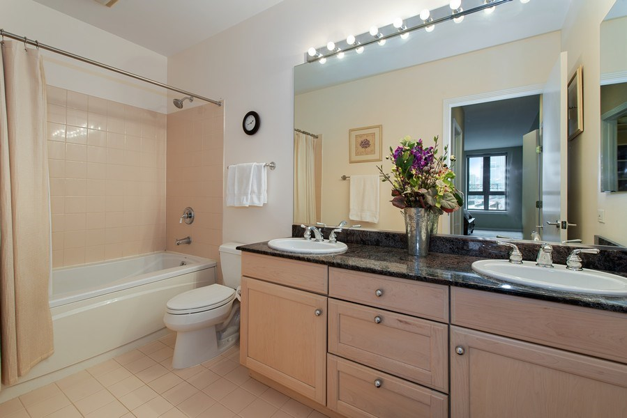 Real Estate Photography - 400 N Clinton, Unit 404, Chicago, IL, 60654 - Master Bathroom