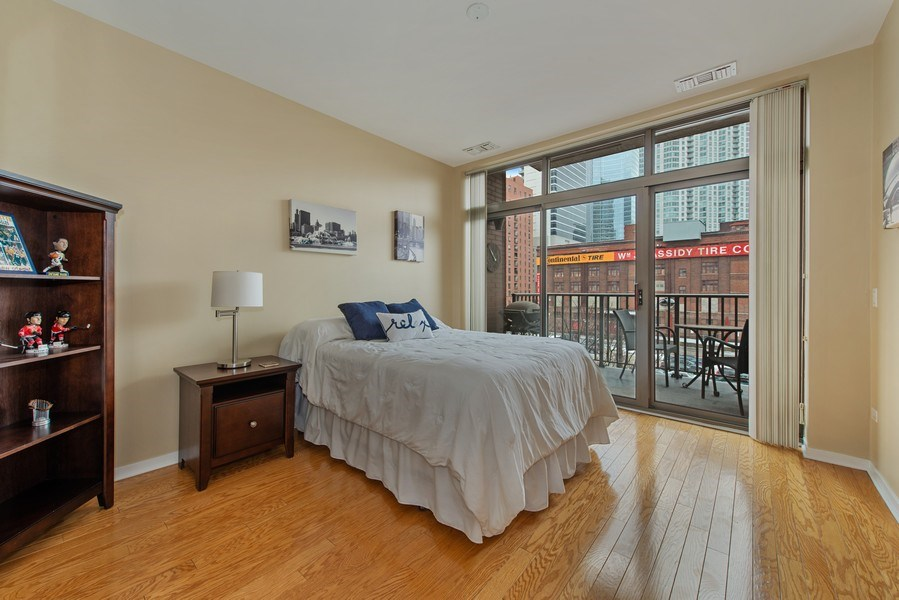 Real Estate Photography - 400 N Clinton, Unit 404, Chicago, IL, 60654 - Bedroom 2