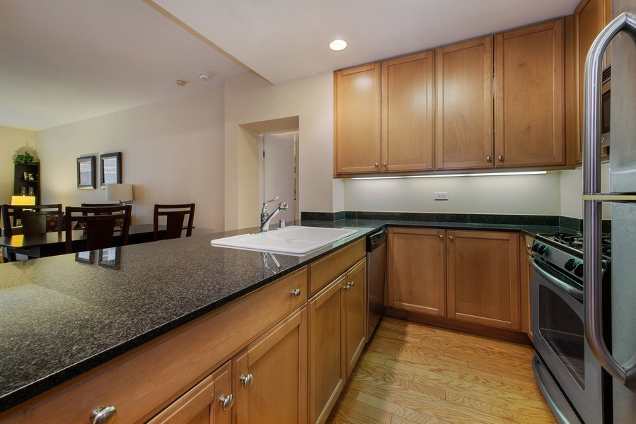 Real Estate Photography - 400 N Clinton, Unit 404, Chicago, IL, 60654 - Kitchen