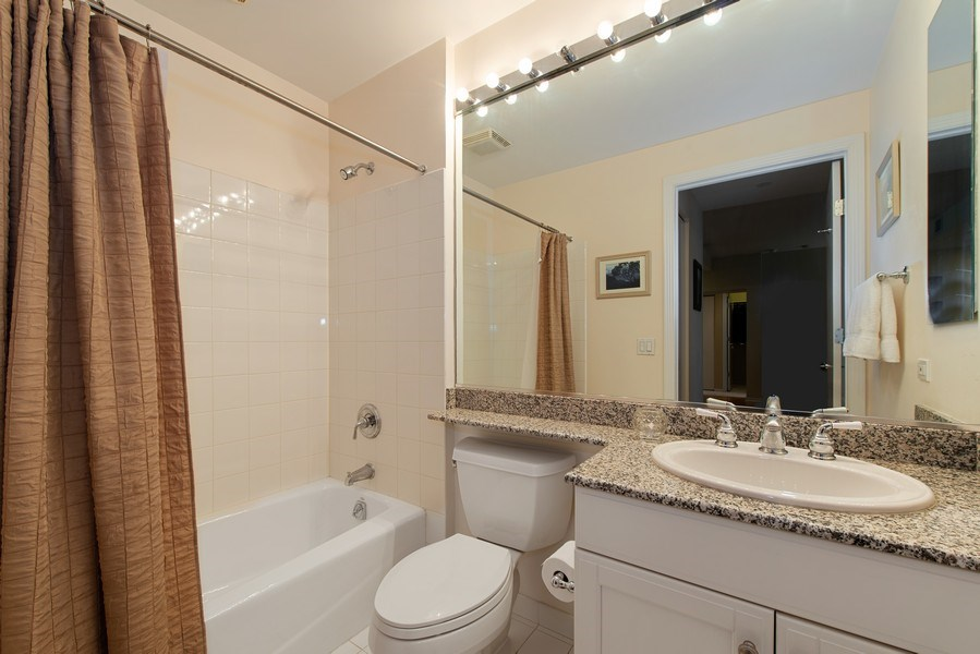 Real Estate Photography - 400 N Clinton, Unit 404, Chicago, IL, 60654 - 2nd Bathroom