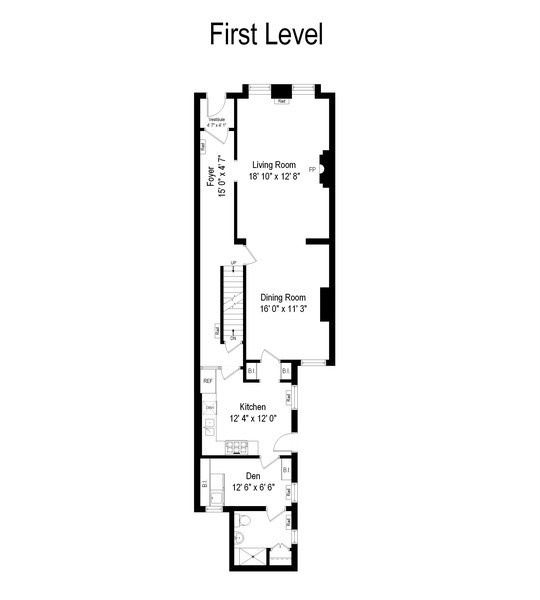 Real Estate Photography - 57 W Burton Place, Chicago, IL, 60610 - Floor Plan