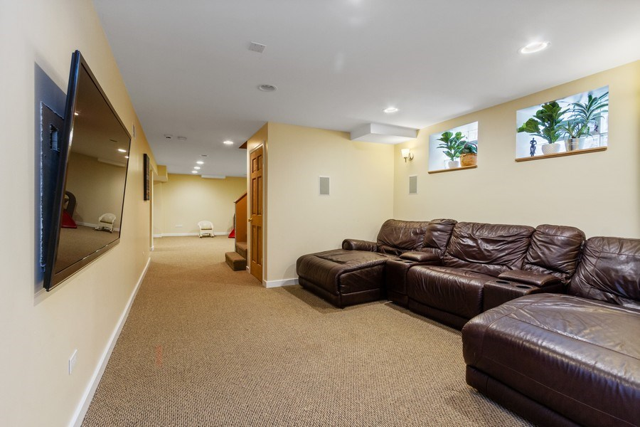 Real Estate Photography - 15 Thatcher Ave, River Forest, IL, 60305 - Family Room Lower Level