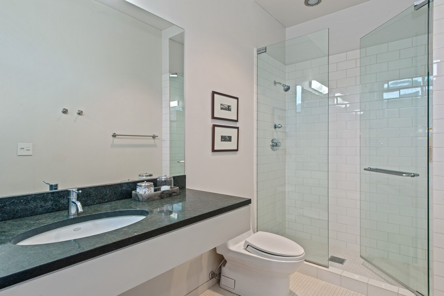 Real Estate Photography - 2517 N Greenview, Chicago, IL, 60614 - 2nd Bathroom