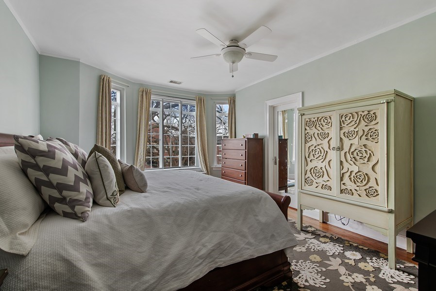 Real Estate Photography - 1316 Maple, A3, Evanston, IL, 60201 - Master Bedroom