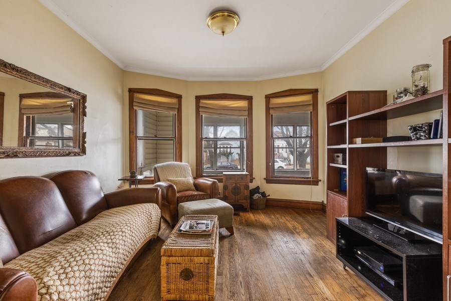 Real Estate Photography - 4719 N Leamington, Chicago, IL, 60630 - Living Room