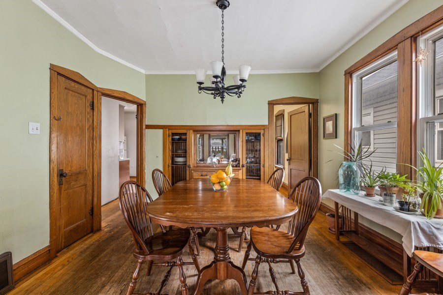 Real Estate Photography - 4719 N Leamington, Chicago, IL, 60630 - Dining Room