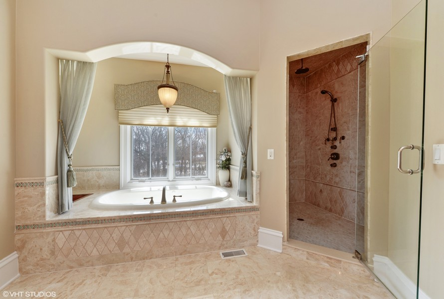Real Estate Photography - 1754 Chicago Ave, Downers Grove, IL, 60515 - Master Bath