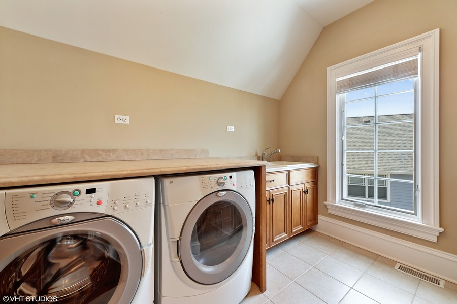 Real Estate Photography - 1754 Chicago Ave, Downers Grove, IL, 60515 - 2nd Floor Laundry