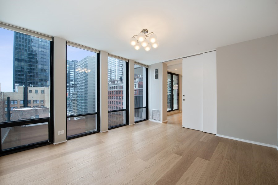 Real Estate Photography - 200 E Delaware Pl, 12D, Chicago, IL, 60611 - 2nd Bedroom