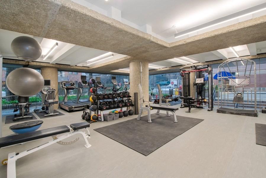 Real Estate Photography - 200 E Delaware Pl, 12D, Chicago, IL, 60611 - Gym