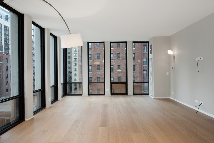 Real Estate Photography - 200 E Delaware Pl, 12D, Chicago, IL, 60611 - Living Room
