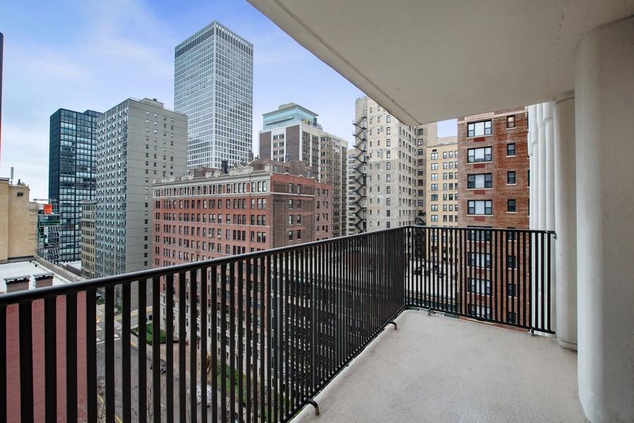 Real Estate Photography - 200 E Delaware Pl, 12D, Chicago, IL, 60611 - Balcony