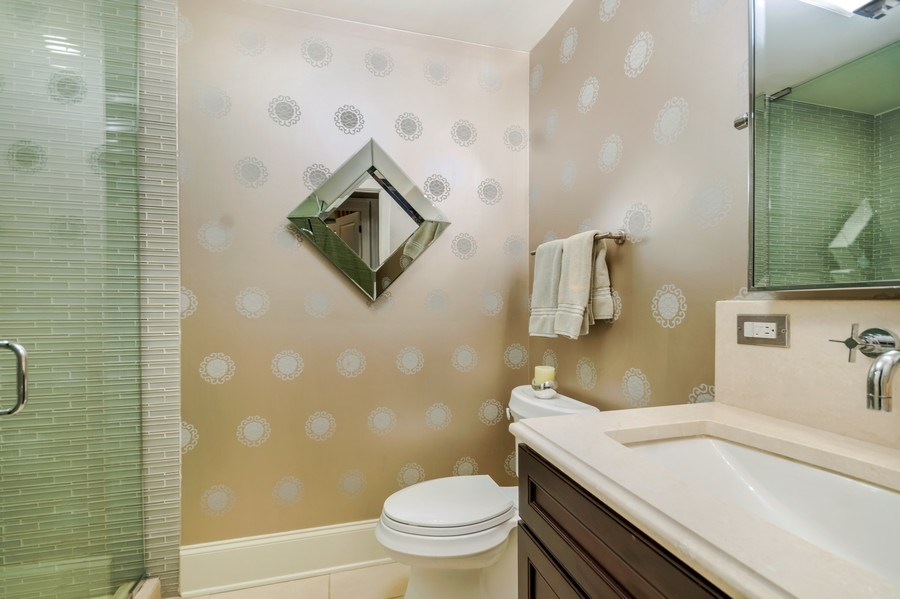 Real Estate Photography - 3133 N Hoyne Avenue, Chicago, IL, 60618 - 3rd Bathroom on Lower Level