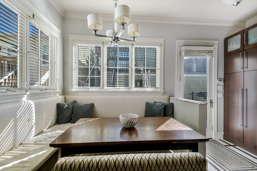 Real Estate Photography - 3133 N Hoyne Avenue, Chicago, IL, 60618 - Breakfast Nook