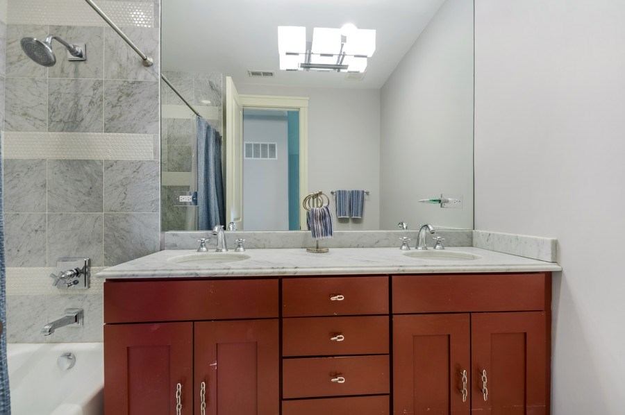 Real Estate Photography - 3133 N Hoyne Avenue, Chicago, IL, 60618 - 2nd Bathroom on Top Level