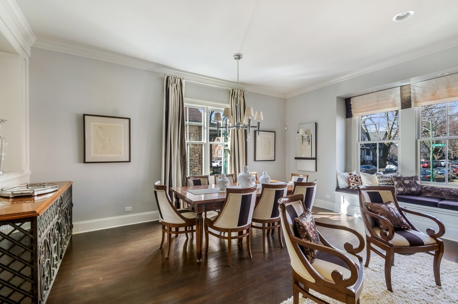 Real Estate Photography - 3133 N Hoyne Avenue, Chicago, IL, 60618 - Living Room/Dining Room
