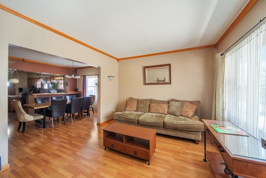 Real Estate Photography - 6952 W Wellington Ave, Chicago, IL, 60634 - Living Room