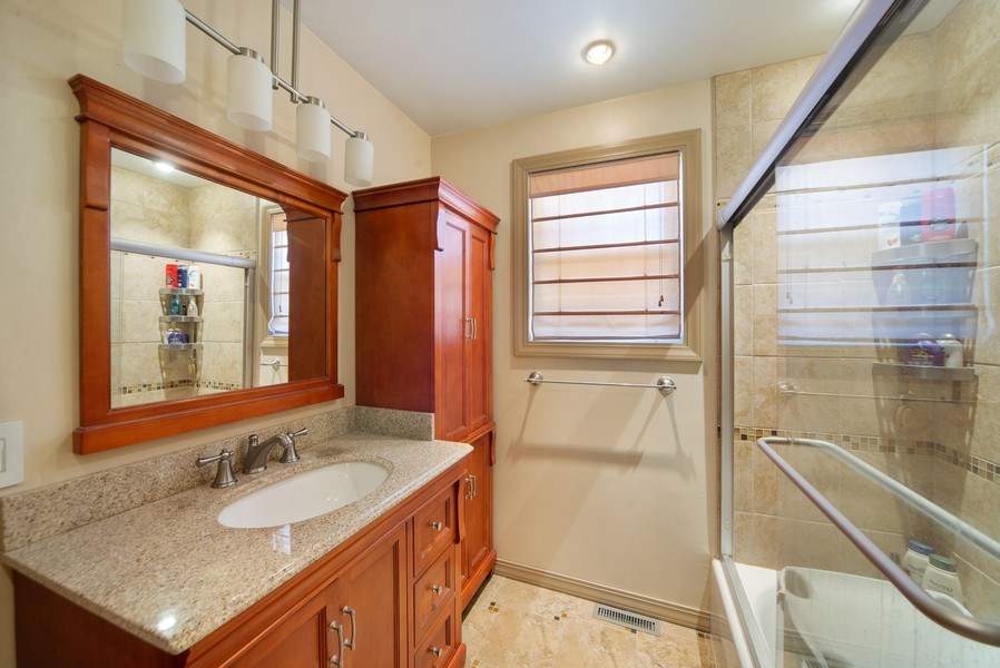 Real Estate Photography - 6952 W Wellington Ave, Chicago, IL, 60634 - Bathroom