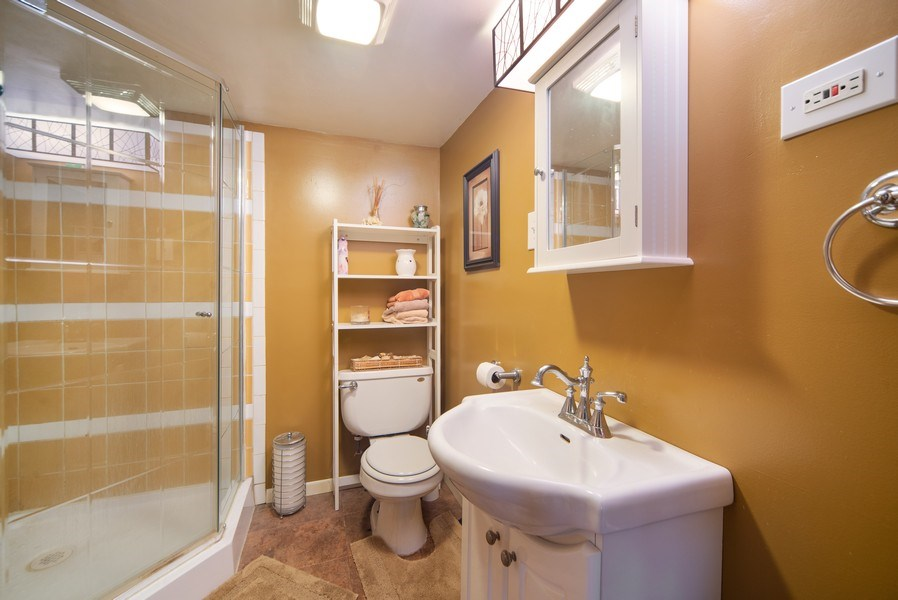 Real Estate Photography - 6952 W Wellington Ave, Chicago, IL, 60634 - 2nd Bathroom