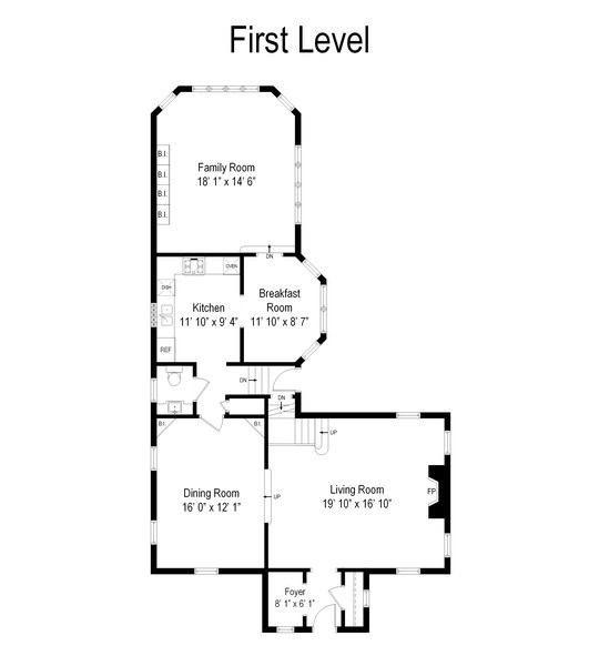 Real Estate Photography - 6033 N Forest Glen, Chicago, IL, 60646 - Floor Plan