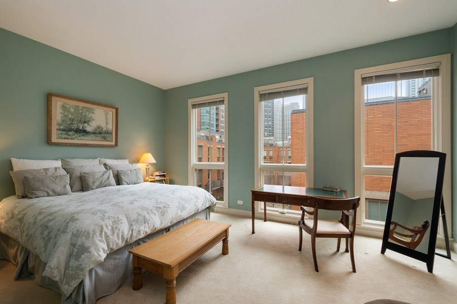 Real Estate Photography - 456 E North Water St, Chicago, IL, 60611 - Master Bedroom