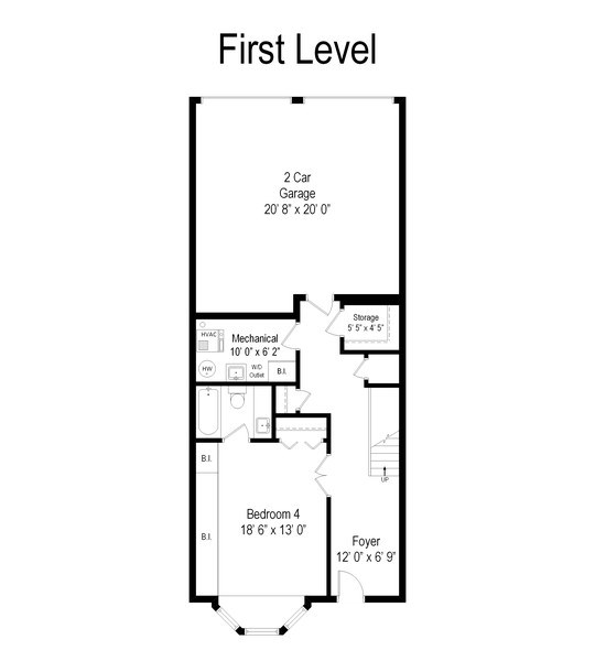 Real Estate Photography - 456 E North Water St, Chicago, IL, 60611 - Floor Plan