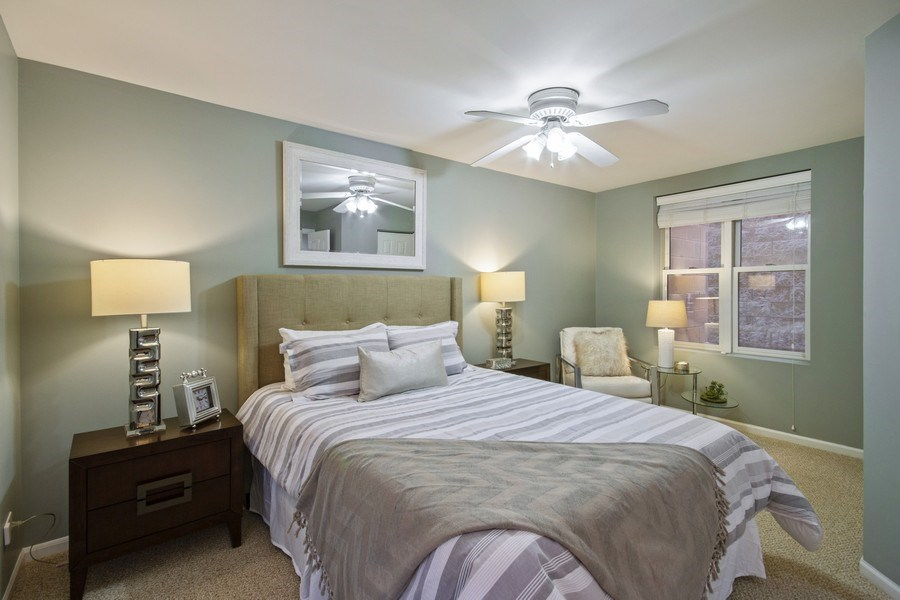 Real Estate Photography - 2851 Southport Ave., A, Chicago, IL, 60657 - Master Bedroom