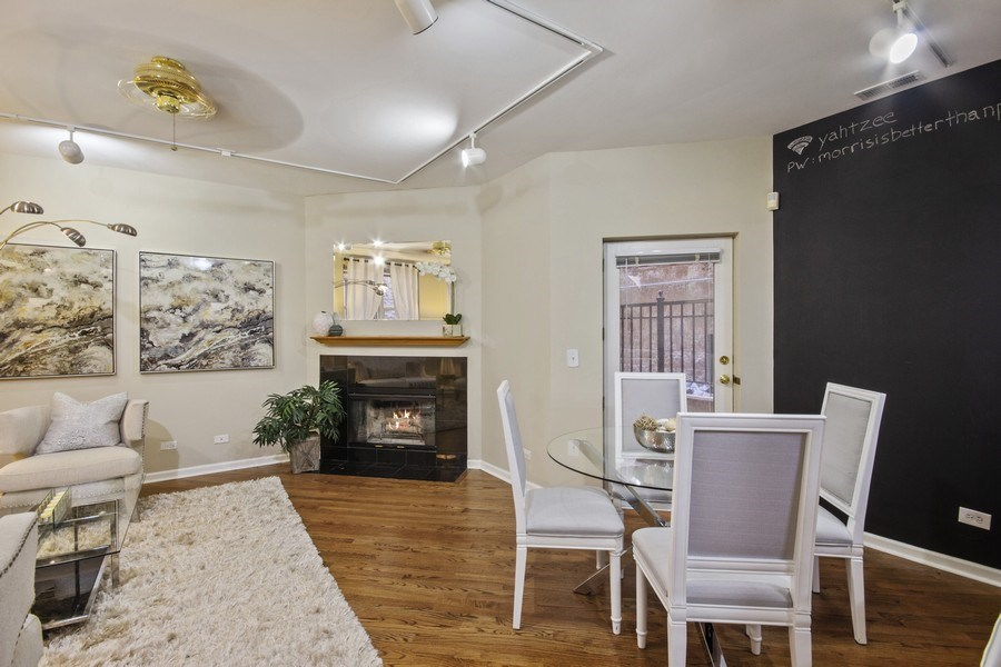 Real Estate Photography - 2851 Southport Ave., A, Chicago, IL, 60657 - Dining Room