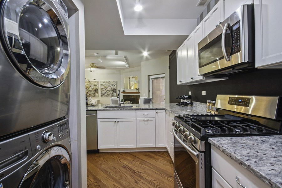 Real Estate Photography - 2851 Southport Ave., A, Chicago, IL, 60657 - Laundry Room