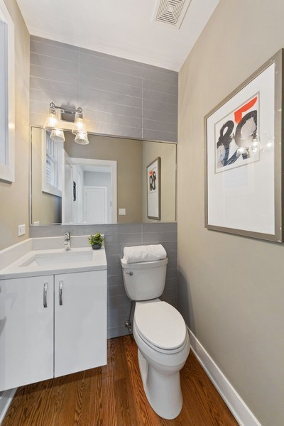 Real Estate Photography - 3521 S Prairie avenue, Chicago, IL, 60653 - Powder Room
