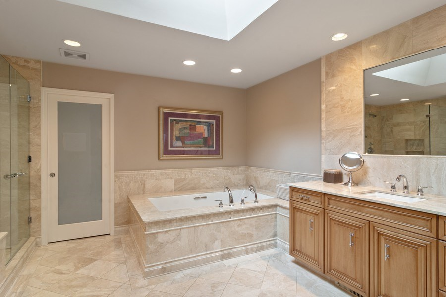 Real Estate Photography - 222 Fairview Ave, Deerfield, IL, 60015 - Master Bathroom