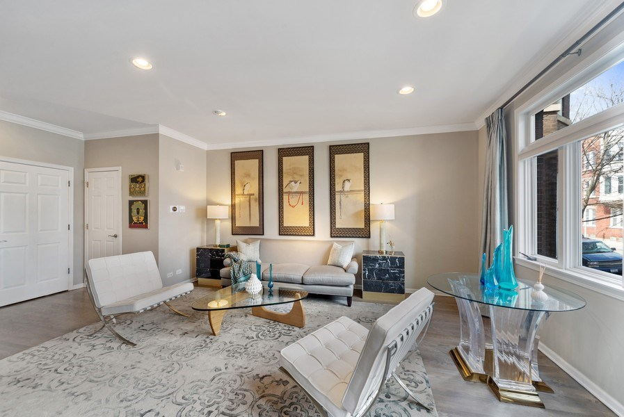 Real Estate Photography - 2339 W. Ohio ST., Chicago, IL, 60612 - Alternative Living Room