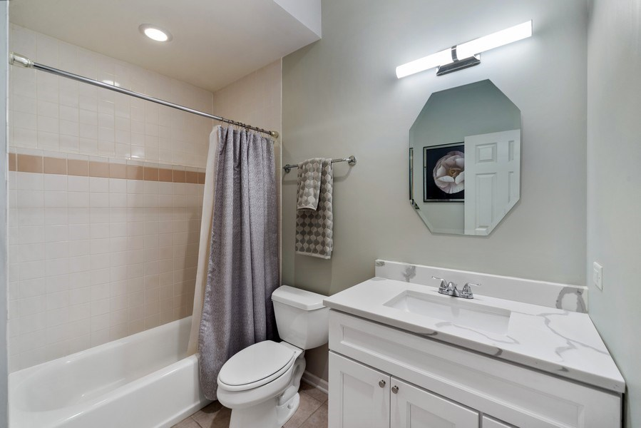 Real Estate Photography - 2339 W. Ohio ST., Chicago, IL, 60612 - 3rd Full Bath in Lower Level