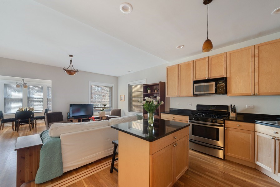 Real Estate Photography - 4639 N. Central Park, 2N, Chicago, IL, 60625 - Kitchen
