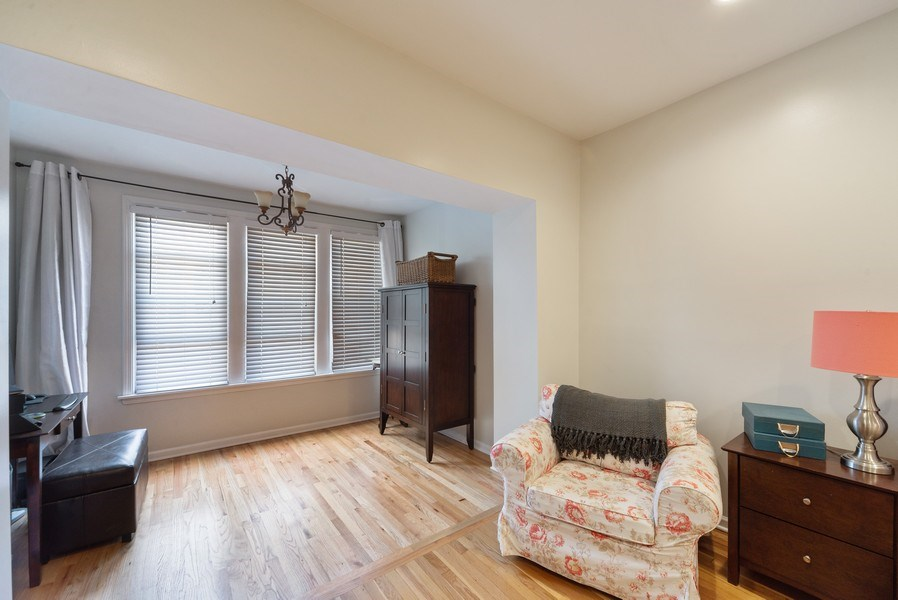 Real Estate Photography - 4639 N. Central Park, 2N, Chicago, IL, 60625 - Master Bedroom