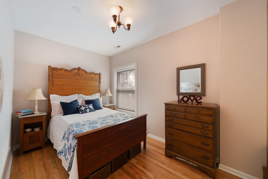 Real Estate Photography - 4639 N. Central Park, 2N, Chicago, IL, 60625 - Bedroom
