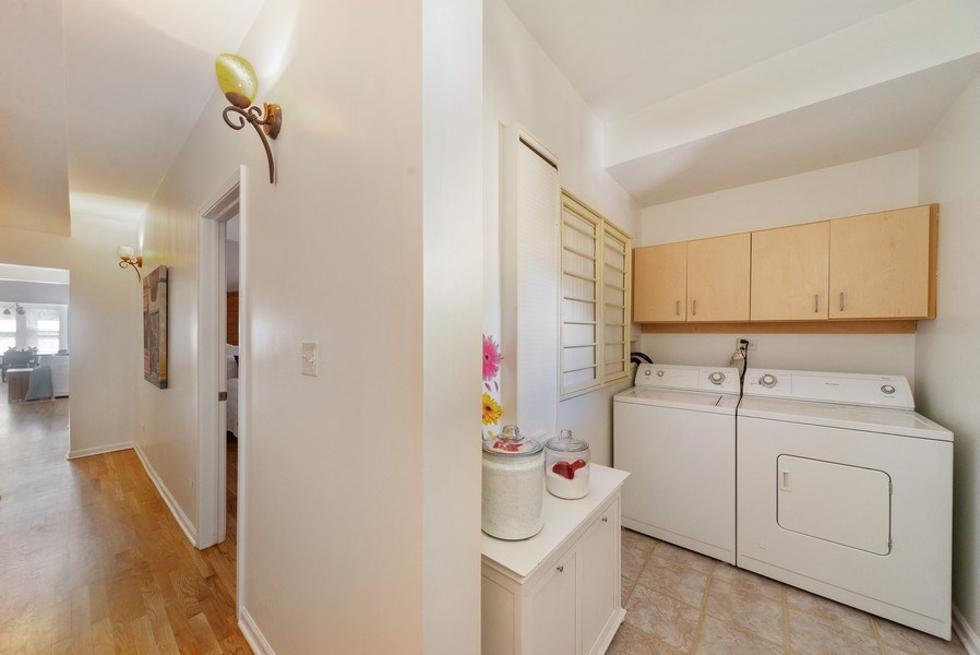 Real Estate Photography - 4639 N. Central Park, 2N, Chicago, IL, 60625 - Laundry Room