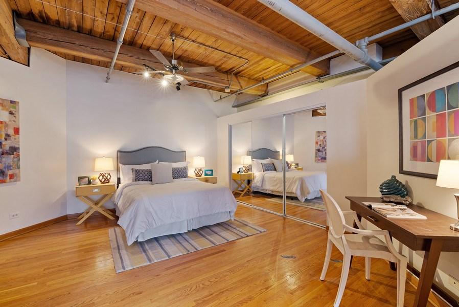 Real Estate Photography - 913 W Van Buren, 6E, Chicago, IL, 60607 - Bedroom
