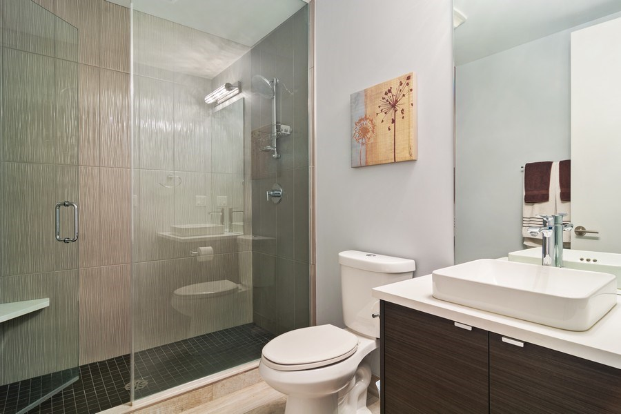Real Estate Photography - 1613 N Honore, Chicago, IL, 60622 - 3rd Bathroom