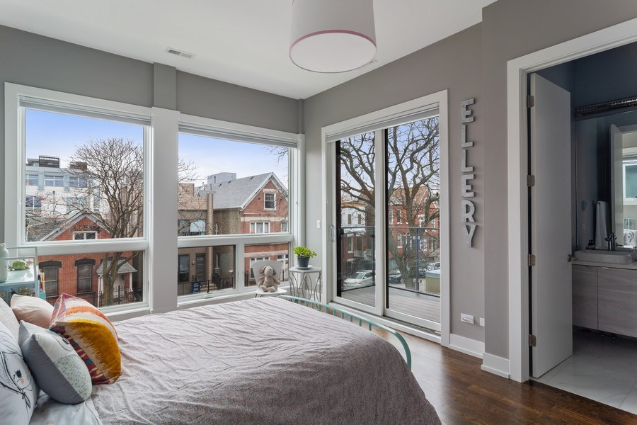Real Estate Photography - 1613 N Honore, Chicago, IL, 60622 - 2nd Bedroom