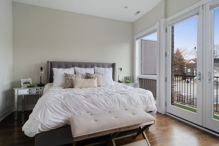 Real Estate Photography - 1613 N Honore, Chicago, IL, 60622 - Master Bedroom