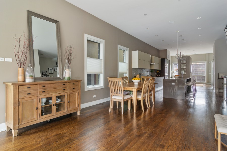 Real Estate Photography - 1613 N Honore, Chicago, IL, 60622 - Dining Room